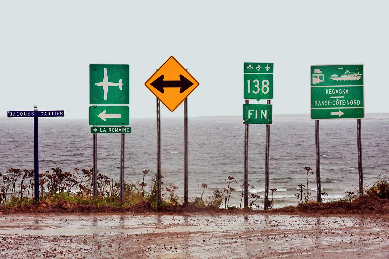 Québec, Kegaska: dove la Route 138 finisce nel San Lorenzo